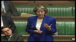 Theresa May maiden speech in the House of Commons - 2 June 1997