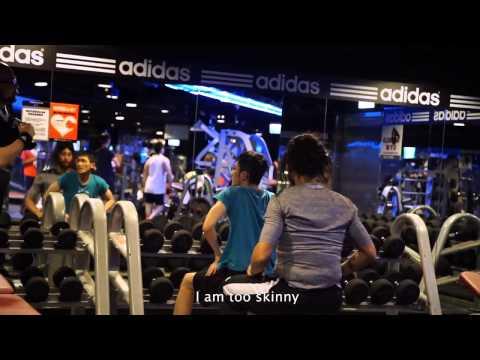 林書豪與吳建豪偽裝健身教練