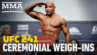 UFC 241 Ceremonial Weigh-In Highlights - MMA Fighting