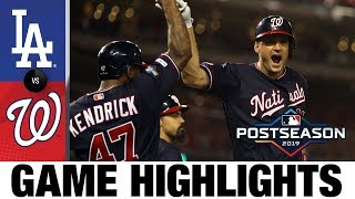 Max Scherzer, Ryan Zimmerman lift Nats to Game 4 win | Dodgers-Nationals NLDS Game Highlights