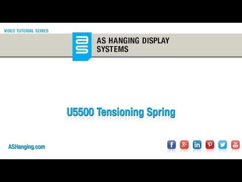 Tensioning Spring for Wall and Ceiling Track