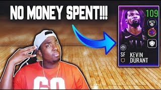 COMPLETING THE 107 OVR SPACEBALL MASTER KEVIN DURANT NO MONEY SPENT IN NBA LIVE MOBILE 19!!!