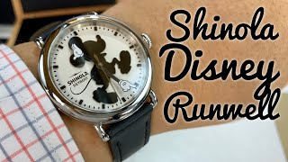 Shinola x Disney Silhouette Mickey Mouse Runwell Watch Review