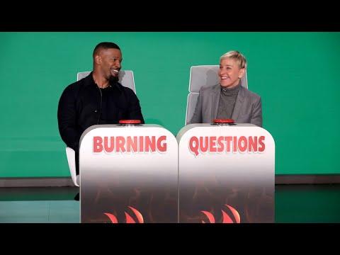 Jamie Foxx Answers Ellen's 'Burning Questions'