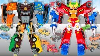 Самые большие Трансформеры: Тобот Гига Семь и Огромный Робот Карбот из мультика Hello Carbot