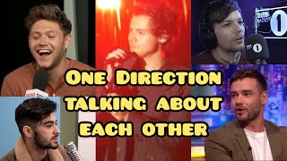 One Direction talking about each other