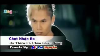 Karaoke HD  Chợt Nhận Ra Karaoke   Du Thiên Ft  Châu Khải Phong Full Beat