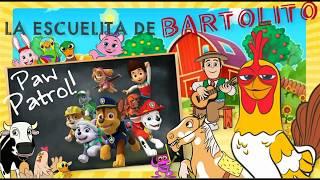 La Escuelita de Bartolito junto con los Paw Patrol la patrulla canina! Los cachorros salvan a Cali!