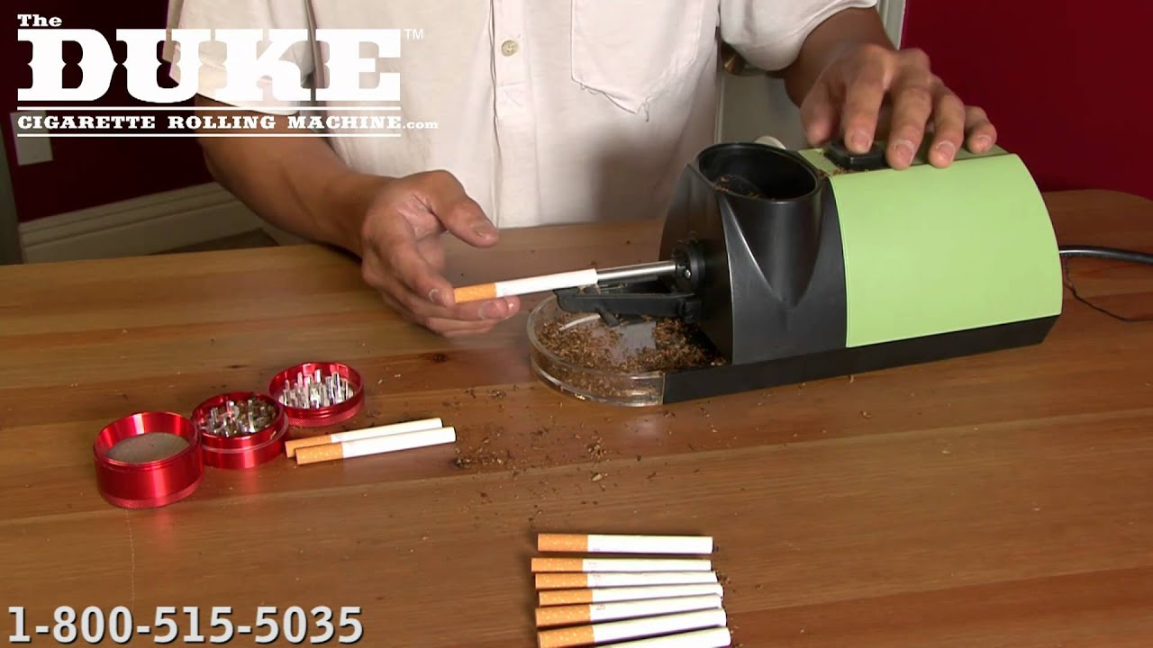 The Commercial Grade Duke Cigarette Rolling Machine Youtube