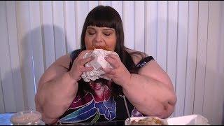 HUGE Double Monster Burger Green Chili Fries and Shake Mukbang Eating Show