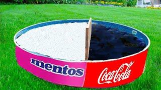 Experiment Coca cola VS Mentos in the Pool AND Coca Cola vs Mentos Underground. Super Reaction!