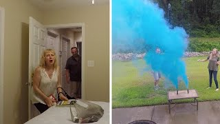 Surprise Pregnancy Announcement & Gender Reveal On Same Day
