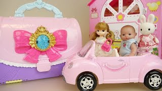 Baby doll bag and car toys baby Doli house play