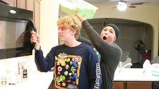 SLIME PRANK ON PAUL, I DUMPED A WHOLE BUCKET OF SLIME ON HIM