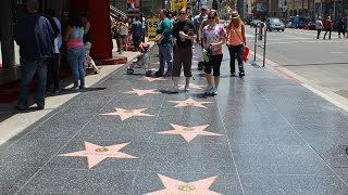 Walking on Hollywood Boulevard  4K