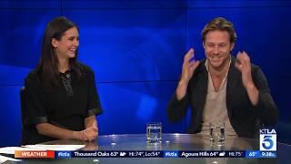 Actors Nina Dobrev and Luke Bracey Dish on Their New Film