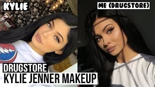 Kylie Jenner Inspired Drugstore Makeup Tutorial In Feshfen Full Lace Wig | Talia Mar