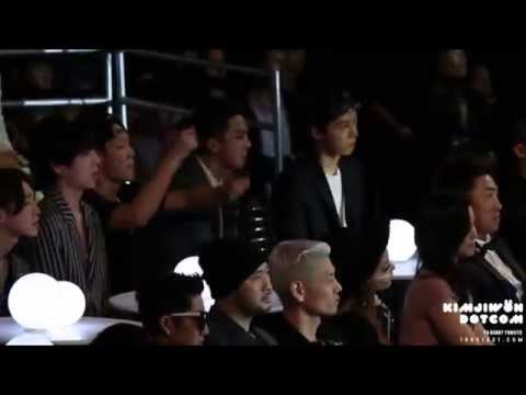 [FANCAM] 141203 MAMA EXO performance reaction (BOBBY focus)
