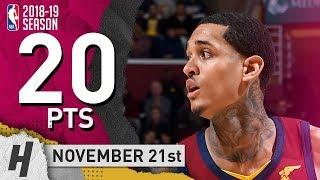 Jordan Clarkson Full Highlights Cavaliers vs Lakers 2018.11.21 - 20 Pts, 5 Ast, 2 Rebounds!