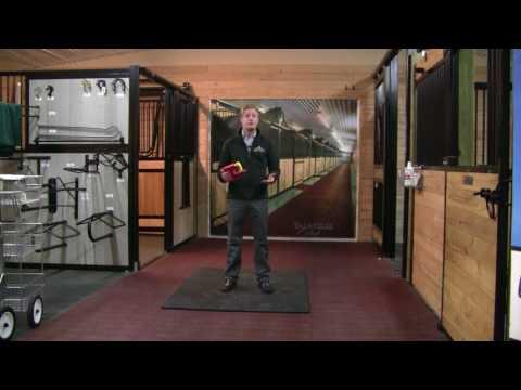 man standing on stall matt
