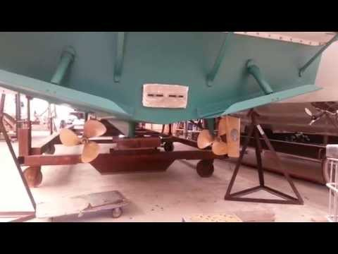 Electric Boat Prop Test with two 9kW electric motors!
