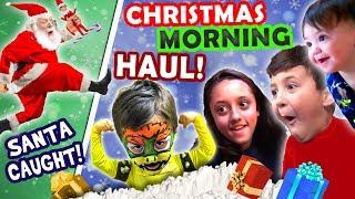 SANTA CAUGHT on CHRISTMAS w  ELF!  FV X Mas HAUL 2016 Presents + North Pole Snow Vlog