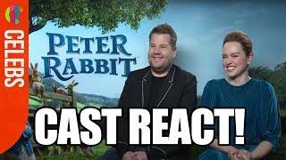 Peter Rabbit Cast | James Corden & Daisy Ridley | Funny Interview