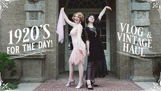 1920's For The Day! || Roaring Twenties Lawn Party at the Crane Estate VLOG & HAUL