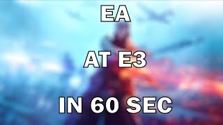 EA Announcements at E3 2018 Summarized in 60 Seconds