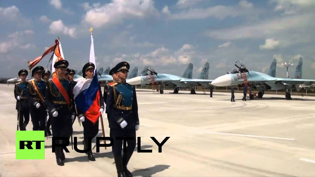 Russia: Sukhoi fighter jets land at re-opened Krymsk ...