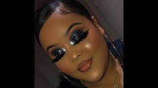 Black glitter Smokey Eye tutorial