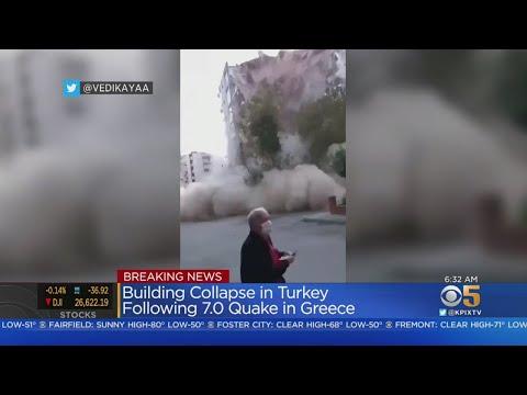 7.0 Earthquake In Aegean Sea Shakes Turkey, Greece; Buildings Toppled, Tsunami Floods Streets