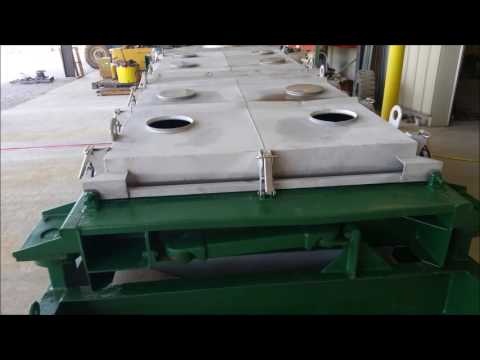 """Used 60"""" X 144"""" Rotex Screener Three deck model 523DA AA/SS"""