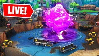 *NEW* FORTNITE LOOT LAKE CUBE EVENT HAPPENING NOW! (FORTNITE BATTLE ROYALE)