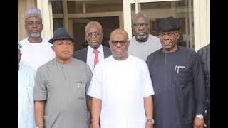 Happening Now : In Solidarity Visit To Wike, PDP Asks INEC To Declare Rivers Governorship Results