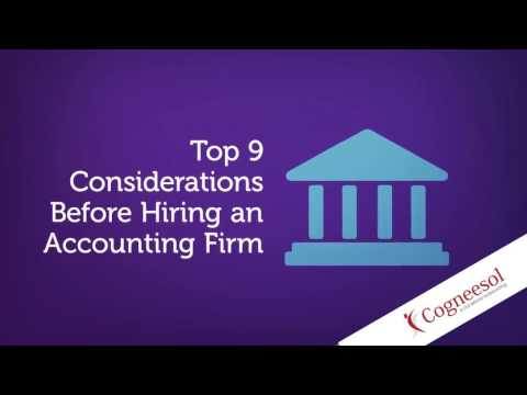 Top 9 Considerations Before Hiring an Outsourcing Accounting Firm