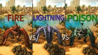 Which Wyvern is the Best? - In Depth Testing [Damage, Range, etc] - ARK: Scorched Earth