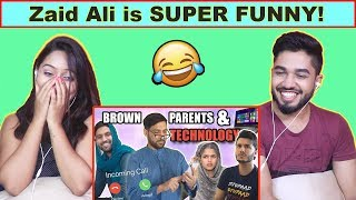 INDIANS react to BROWN PARENTS AND TECHNOLOGY!   Zaid Ali
