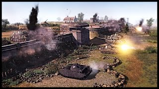 Insane German Wall of Death - Prototype Factory Attack | Men of War Assault Squad 2 Mod Gameplay