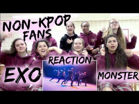 Non-Kpop Fans EXO - Monster Korean Ver. Reaction [Classmates Edition]