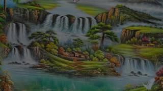 90 Mẫu Tranh Sơn Thủy Hữu Tình Đẹp Nhất - Thế Giới Tranh Sơn Dầu