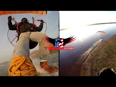 Beautiful Paramotor Foot Dragging Adventure in California with BlackHawk!