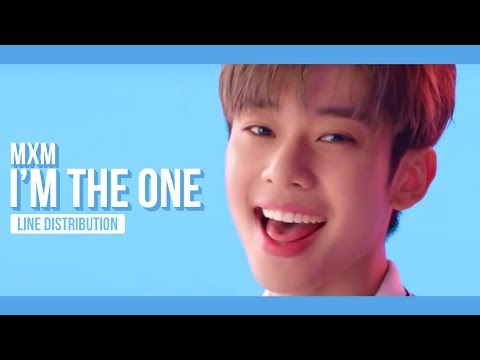 MXM - I'M THE ONE Line Distribution (Color Coded)