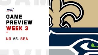 New Orleans Saints vs. Seattle Seahawks Week 3 Game Preview