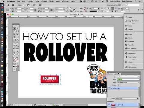 Creating a Rollover Button using InDesign