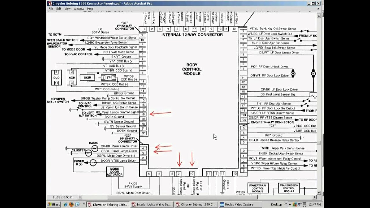 1998 Chrysler Fuse Box Diagram Wiring Library Cabrio Relay And Wire 2000 Lhs Get Free Image About 2007 Sebring 2002