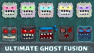 RED BALL 4 - ALL BOSSES 'ULTIMATE GHOST FUSION BATTLES' with ALL 'VOLUME 5' BOSSES