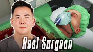 A Real Surgeon Performs Surgery In