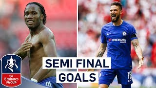 Giroud's Quick Feet and Zola's Stunning Turn | Chelsea's Best Semi Final Goals | Emirates FA Cup