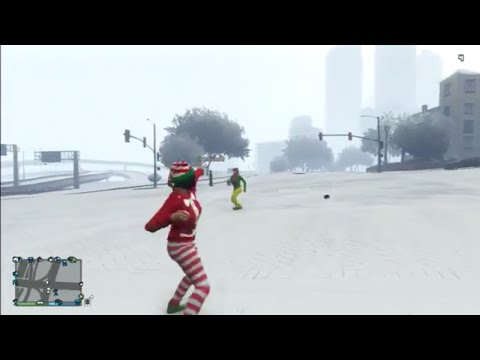 Grand Theft Auto 5: Xmas Snowball Fight